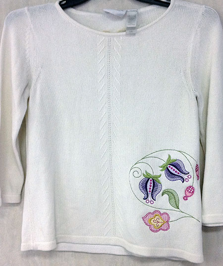 jacobean floral sweater