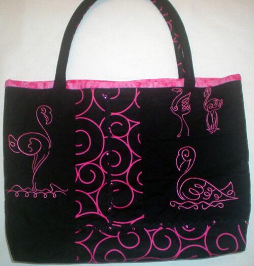 art deco flamingo bag