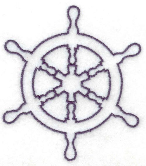 ships wheel embroidery design