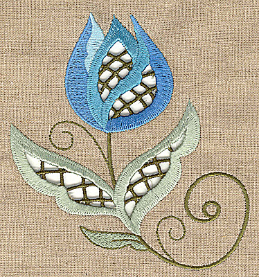 cutwork flower 9 embroidery design