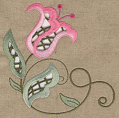 cutwork flower k embroidery design