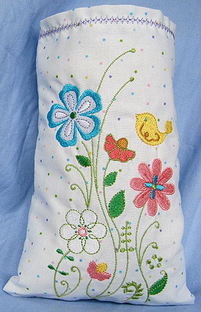 summer floral 1 thread catcher bag
