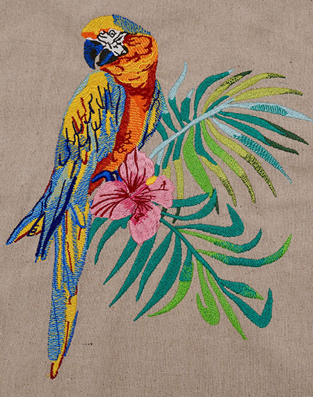 Macaw sew out