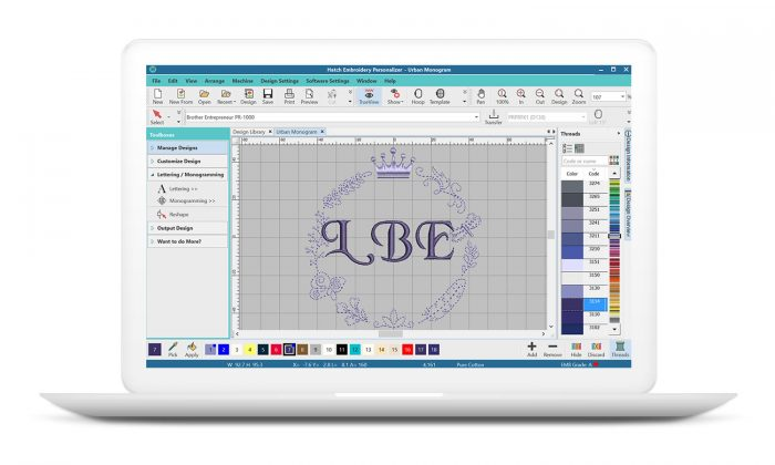 Hatch Embroidery Personalizer Software
