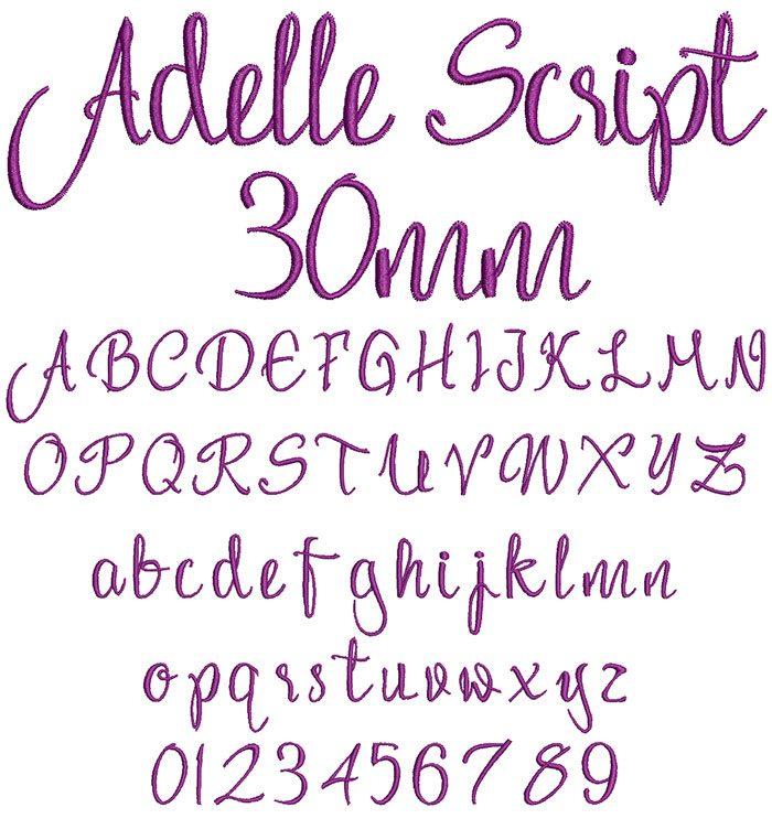 adelle script keyboard font letters