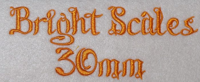 Bright Scales 30mm Font