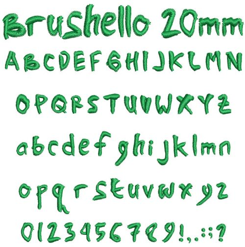 brushello keyboard font letters