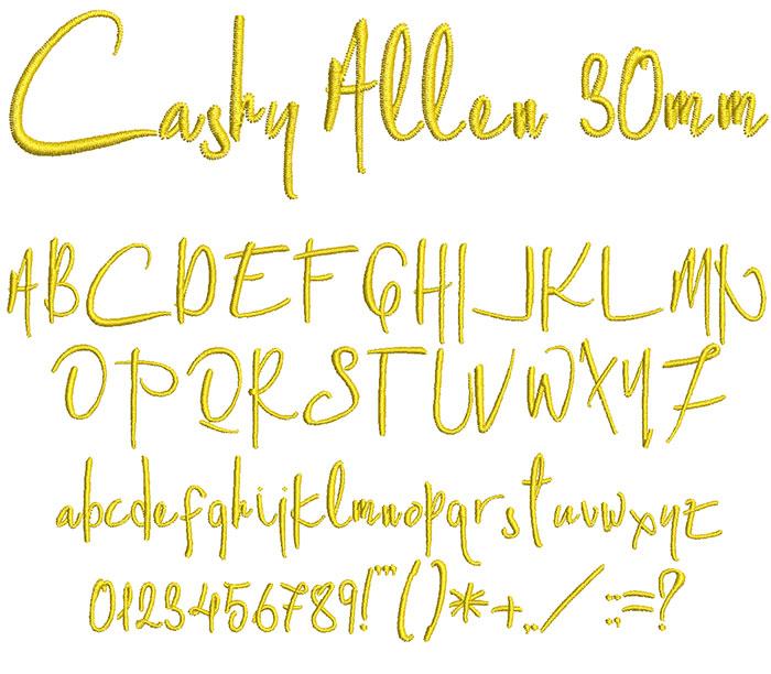 cashy allen keyboard font letters