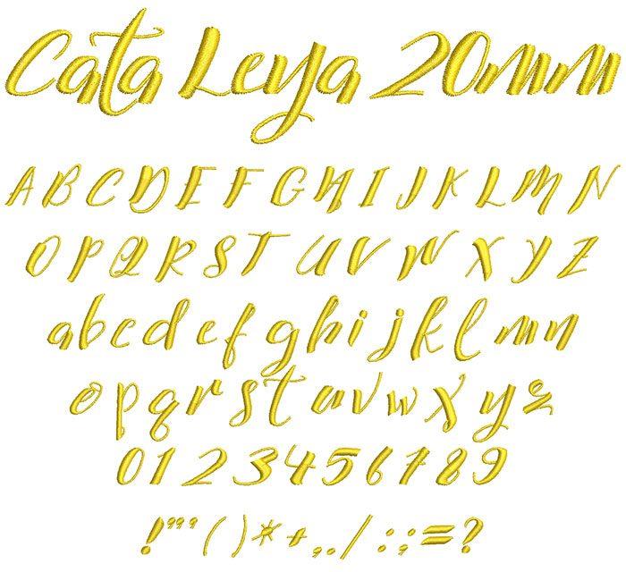 cata leya keyboard font letters