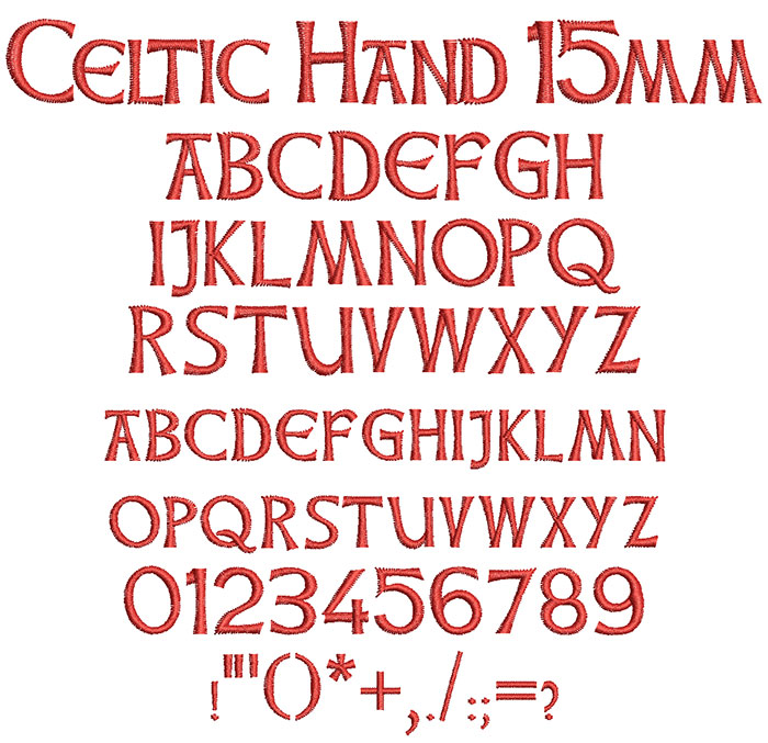 Celtic Hand 15mm Font
