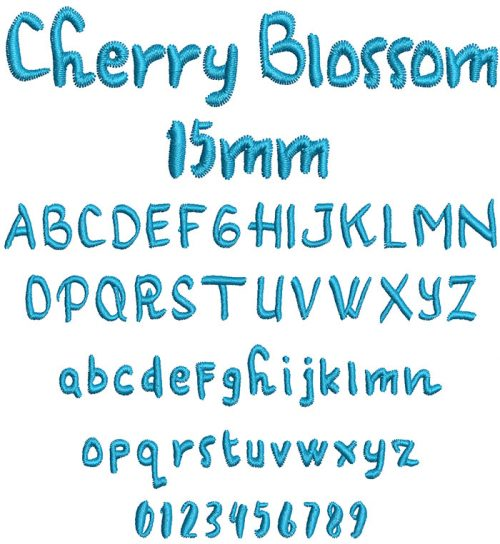 cherry blossom keyboard font letters