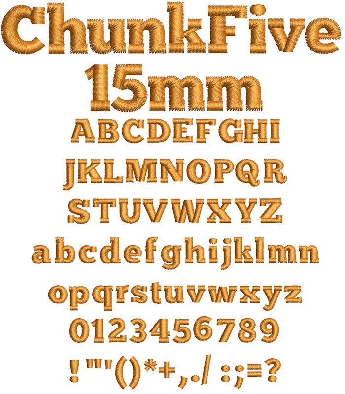 Chunk Five 15mm Font