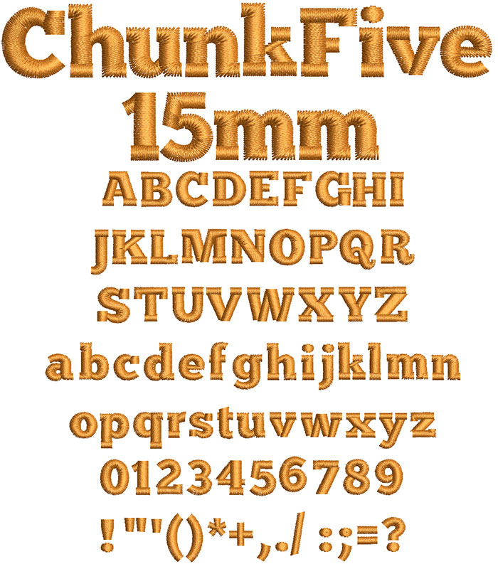 Chunk Five 15mm Font