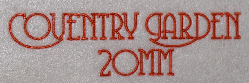 Coventry Garden 20mm Font