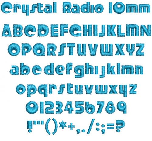 crystal radio keyboard font letters