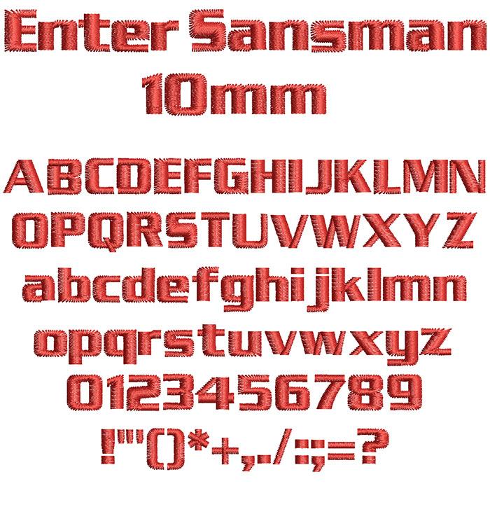 Enter Sansman 10mm Font