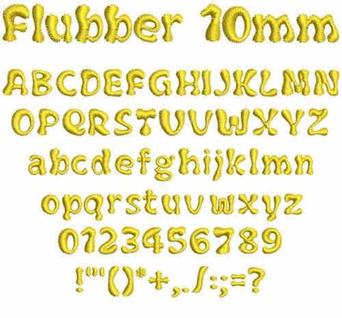 flubber keyboard font letters