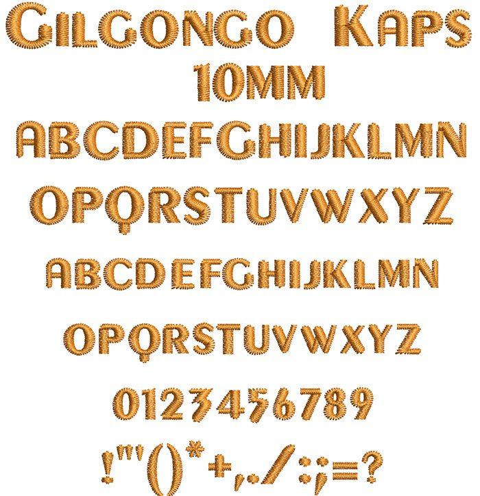 gilgongo kaps keyboard font letters