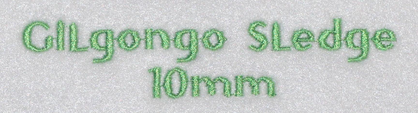 Gilgongo Sledge 10mm Font