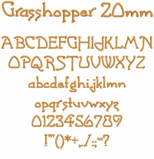 grasshopper keyboard font letters