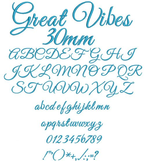 Great Vibes ESA Font