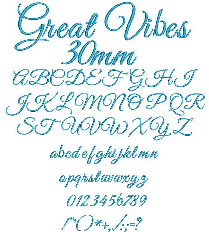 Great Vibes ESA Font