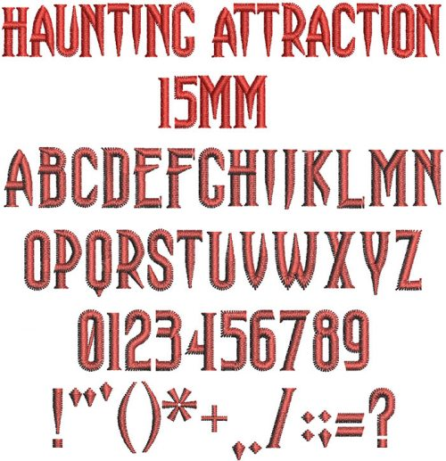 haunting attraction keyboard font letters