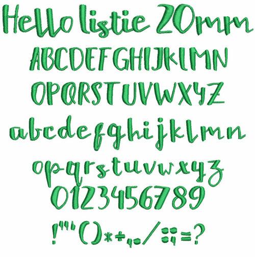 hello listie keyboard font letters