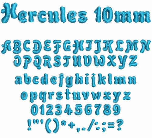 hercules keyboard font letters