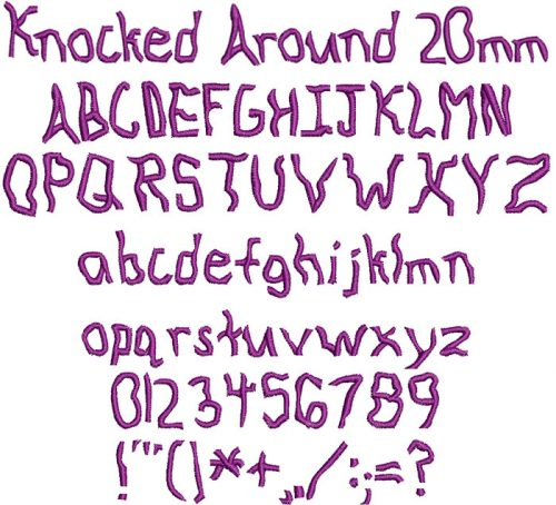 knocked around keyboard font letters
