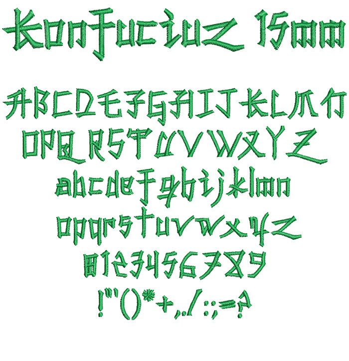 Konfuciuz 15mm Font