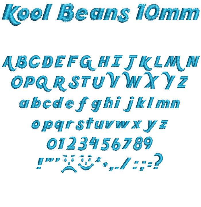 kool beans keyboard font letters