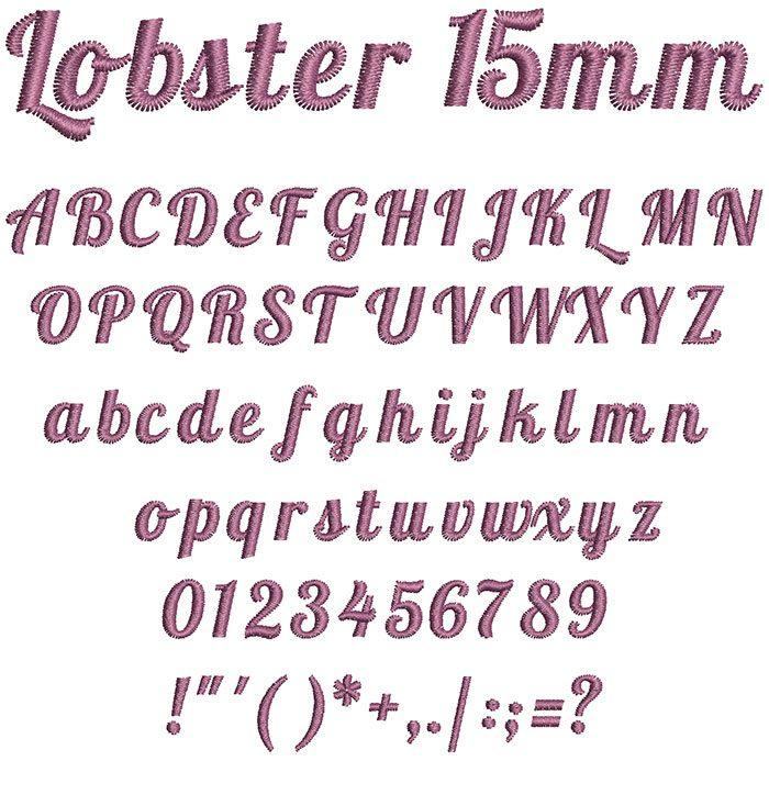 lobster keyboard font letters