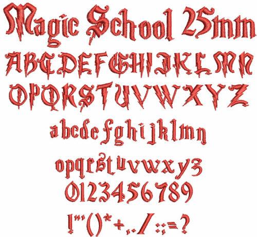 magic school keyboard font letters