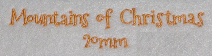 Mountains of Christmas 20mm Font