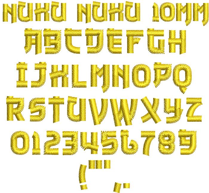 nuku nuku keyboard font letters