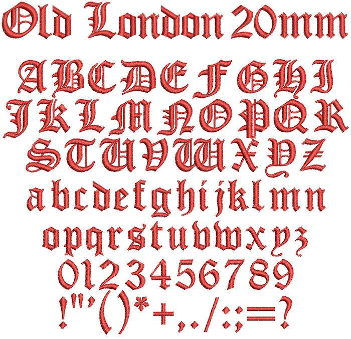 old london keyboard font letters