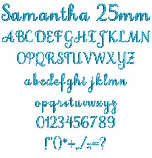 samantha keyboard font letters