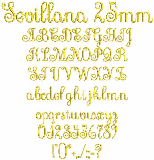 sevillana keyboard font letters