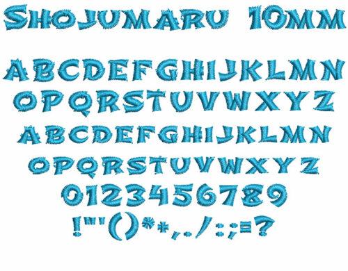 shojumaru keyboard font letters