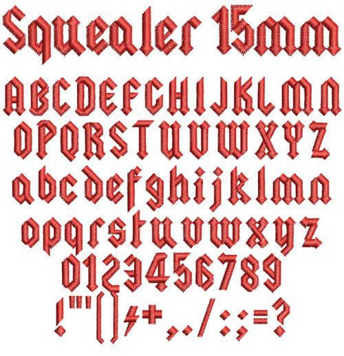 squealer keyboard font letters