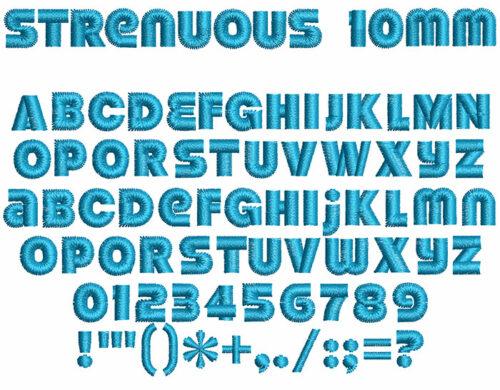 strenuous keyboard font letters