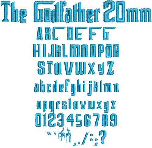 the god father keyboard font letters