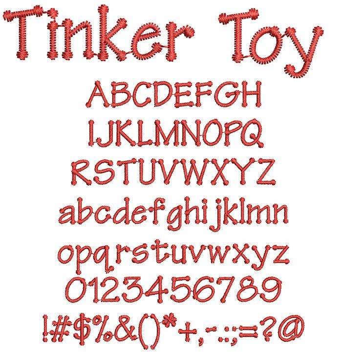 Tinker Toy Font