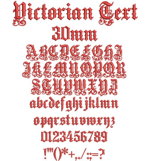victorian text keyboard font letters
