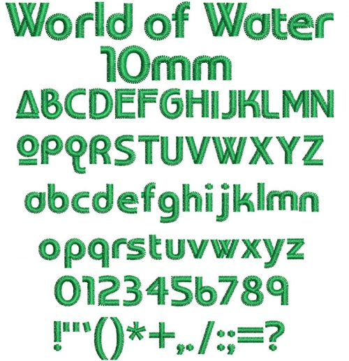 world of water keyboard font letters