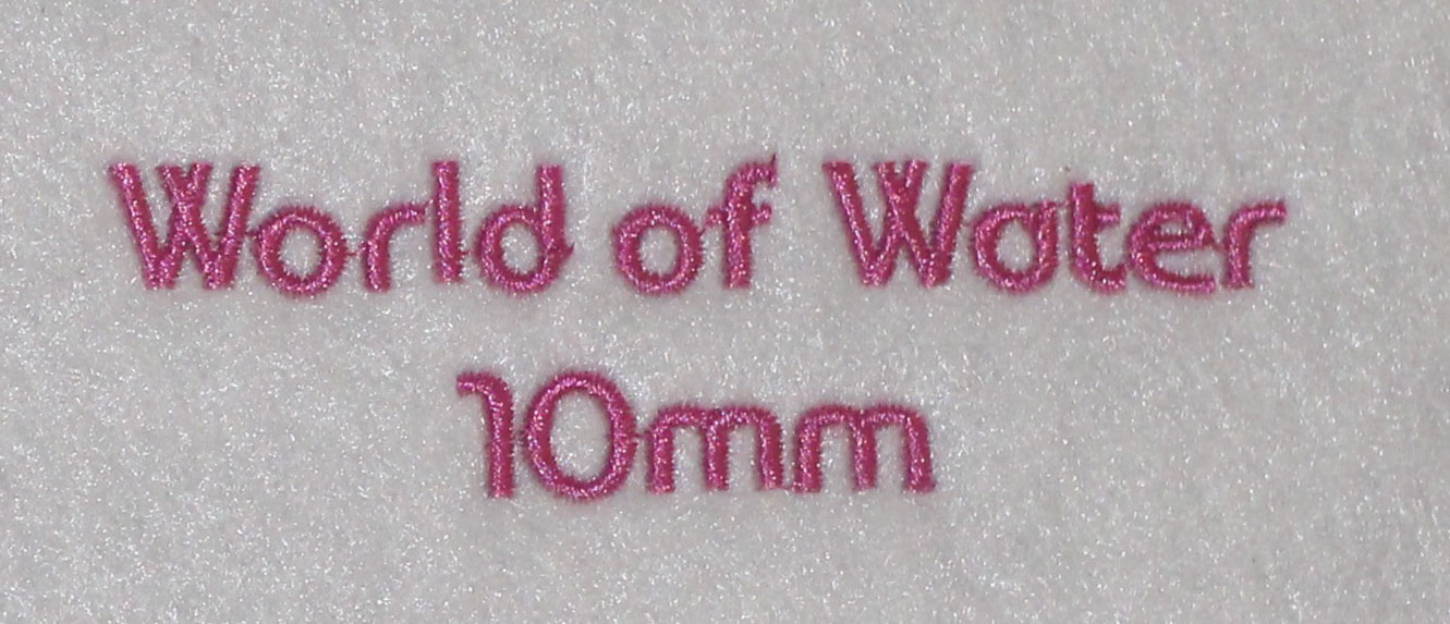 World of Water 10mm Font