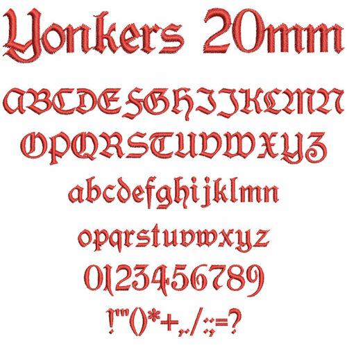 yonkers keyboard font letters
