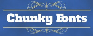 chunky fonts icon