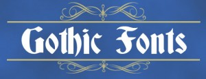 gothic fonts icon